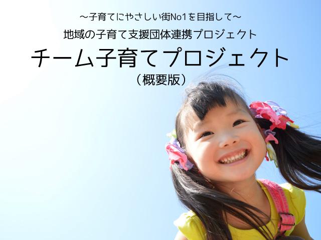 ~子育てにやさしい街No1を目指して~ 地域の子育て支援団体連携プロジェクト チーム子育てプロジェクト (概要版)
